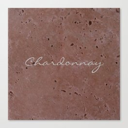 Chardonnay Wine Red Travertine - Rustic - Rustic Glam Canvas Print