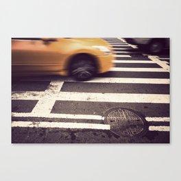 new york city taxi cab Canvas Print