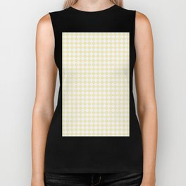 Small Diamonds - White and Blond Yellow Biker Tank