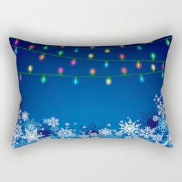 Christmas lights and snowflakes Rectangular Pillow