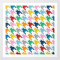 Rainbow Dogtooth Art Print