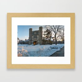 Blair Tower at Princeton University in the Winter Framed Art Print