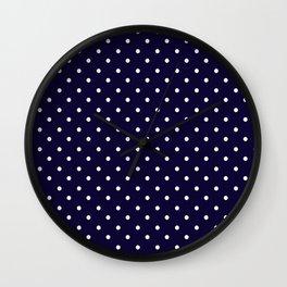 little  dots navy blue Wall Clock