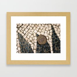 Macao Cobble Stones Framed Art Print