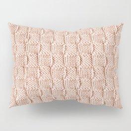 Ecru Knit Textured Pattern Pillow Sham