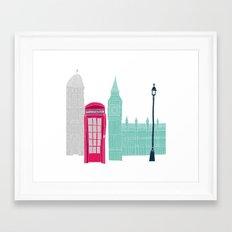 London Red Telephone Box (pink) Framed Art Print