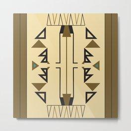 American Native Pattern No. 127 Metal Print