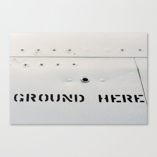 GROUND HERE Canvas Print