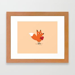 Fox & Duck - I Give You My Heart Framed Art Print