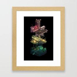 Isometric Coelary - 1 Framed Art Print