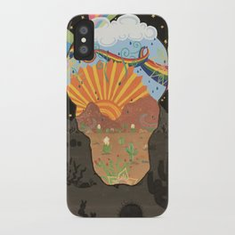 Life and Death in the Desert iPhone Case