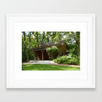 cabin Framed Art Prints featuring Cabin by G.E. North