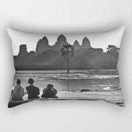 Three amigos enjoying the view of Angkor Wat Rectangular Pillow