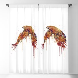 Flying Hawk Watercolor Painting Blackout Curtain