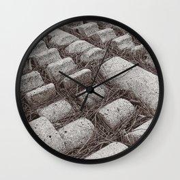 Pine Needles Wall Clock