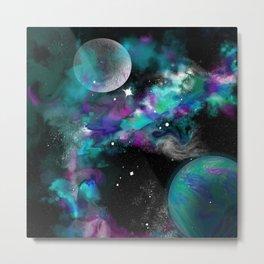 aquapearl moon Metal Print