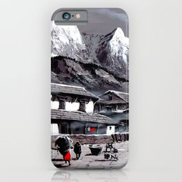 Panoramic View Of Everest Base Camp iPhone Case