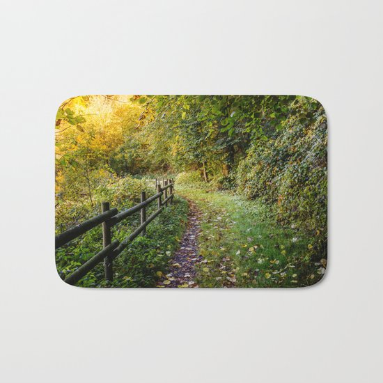 An Autumn Walk Bath Mat