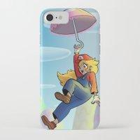 princess peach iPhone & iPod Cases featuring Princess Peach by Lisa Lynne Lumos