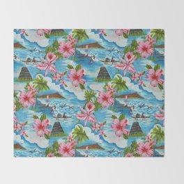 Hawaiian Scenes Throw Blanket