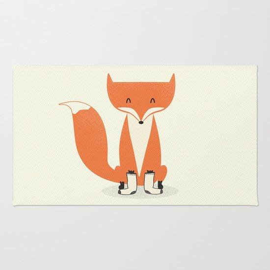 A Fox With Socks Rug