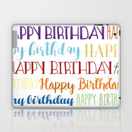Happy Birthday | Fun & Bright Laptop & iPad Skin