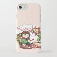 hiccup iPhone & iPod Cases featuring Merry Christmas from Hiccup and Toothless by Clgtart