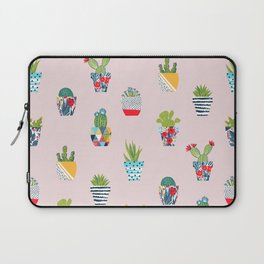 Funny cacti illustration Laptop Sleeve