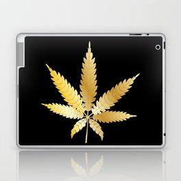 Gold Cannabis Leaf Laptop & iPad Skin