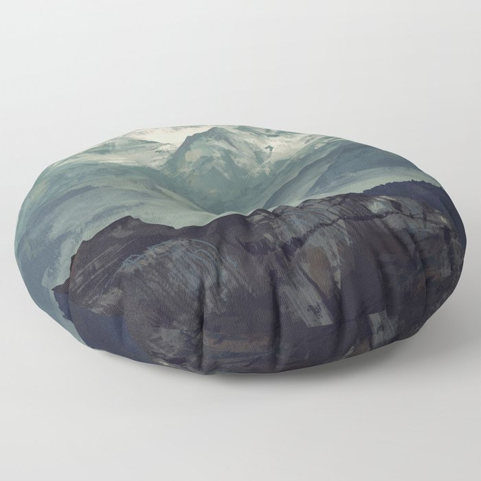 Mountain Fog Floor Pillow
