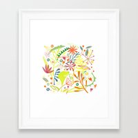 tropical Framed Art Prints featuring Tropical by Nic Squirrell