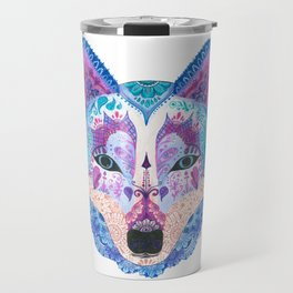 Henna Wolf Travel Mug