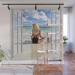 Blonde Hair on the Beach | OPEN WINDOW ART Wall Mural
