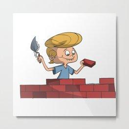 Look, Mom, I'm building a wall! Metal Print