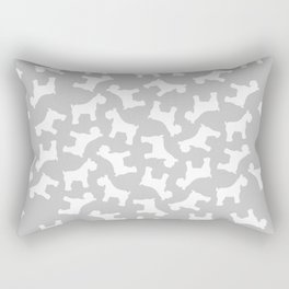 Silver Schnauzers - Simple Dog Silhouettes Pattern Rectangular Pillow