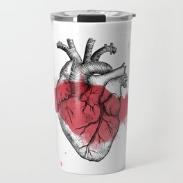 Anatomical heart - Art is Heart  Travel Mug