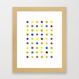 Candied Polka Dots Framed Art Print