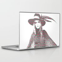 cara delevingne Laptop & iPad Skins featuring Cara Delevingne: Issa by fashionistheonlycure