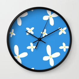 Classic Blue and White Flowers Wall Clock