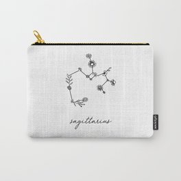 Sagittarius Floral Zodiac Constellation Carry-All Pouch