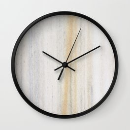 Rustic gray gold yellow vintage white marble Wall Clock