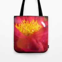 dahlia Tote Bags featuring Dahlia by Kitsmumma