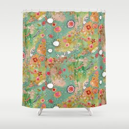 Feathers flowers showers Shower Curtain