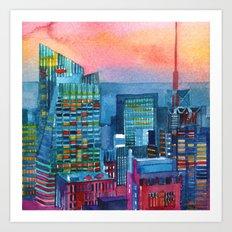 New York buildings vol2 Art Print