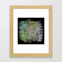 Elephant with black background Framed Art Print
