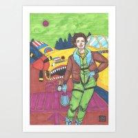 pilot Art Prints featuring Pilot by ryeborg