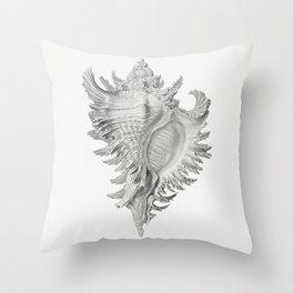 Vintage shell marine life Throw Pillow