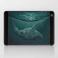 """biology iPad Cases featuring """"Eclipse"""" - Green Sea Turtle, Acrylic by Amber Marine"""