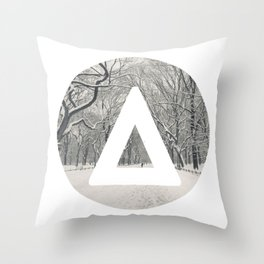 Bastille snow triangle Throw Pillow