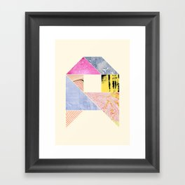 Collaged Tangram Alphabet - A Framed Art Print